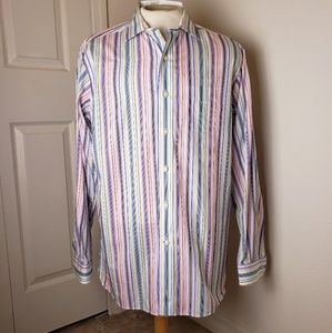 Cremieux Multi Color Striped Long Sleeve